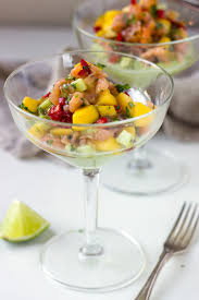 cold smoked salmon cocktail with avocado cream nutritionist