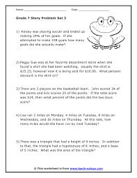 math grade 7 worksheets worksheets