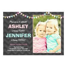 twin birthday invitations u0026 announcements zazzle