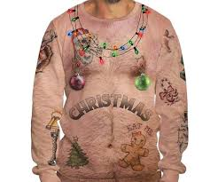 christmas sweater chest christmas sweater