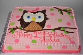 easy owl infant shower quarter sheet cake