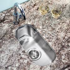 Houzer CS Club Series Undermount Stainless Steel Compact - Compact kitchen sinks stainless steel