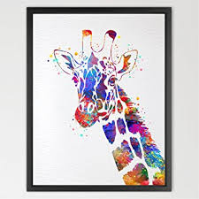 chambre la girafe dignovel studios impression aquarelle girafe décoration