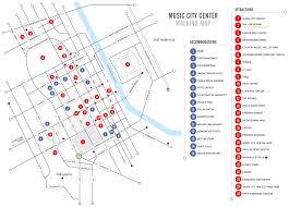 Nashville On Map Walking Map Nashvillemusiccitycenter Com