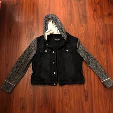 jean sweater jacket 80 black rivet jackets blazers jean sweater jacket from