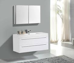 vanity for rectangular undermount sinks white virtu usa