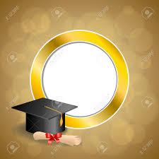 graduation cap frame background abstract beige education graduation cap diploma
