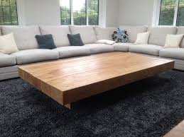 Wood Coffee Tables With Storage Oversized Square Coffee Table Montserrat Home Design Rustic