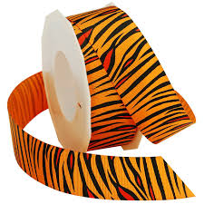 halloween grosgrain ribbon amazon com morex ribbon tiger grosgrain ribbon 7 8 inch by 20