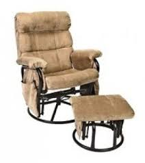 reclining glider rocker with ottoman foter