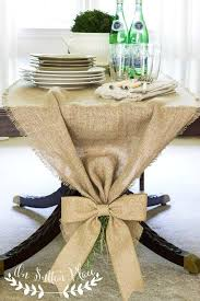 easy no sew burlap table runner on sutton place