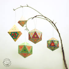 ornaments papercraft diy paper tree home decor
