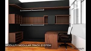 modulfy modular track system wardrobe youtube