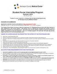 nursing student resume for internship cover letters for nursing students choice image cover letter sle