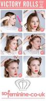 Hair And Makeup Apps Diy Tutorial How To Do Victory Rolls 1940 U0027s Hair And Makeup