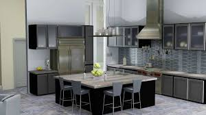 Black Modern Kitchen Cabinets Kitchen Clear Modern Glass Kitchen Cabinet Door With Brown Wood