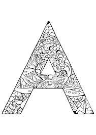 Alphabet lettre a  Coloriages alphabet et lettres