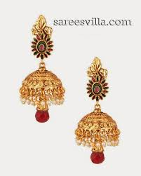 buttalu earrings gold buttalu designs sarees villa