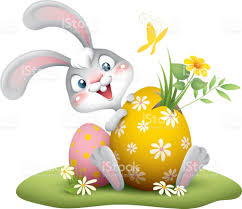 big easter bunny easter bunny with big egg stock vector 646373990 istock