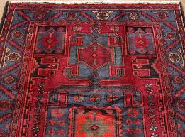 Red And Blue Persian Rug by 4 X 6 Persian Zanjan Tribal Hand Knotted Wool Brick Red Blue