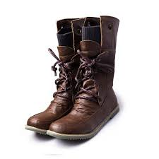 womens boots mid calf brown boots s fashion lace up mid calf motorcycle boots stylenb