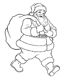 picture of santa claus face coloring home