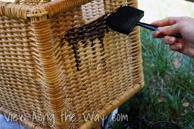 Can You Paint Wicker Chairs Staining Wicker Baskets And Finding The One View Along The Way