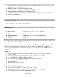 Pl Sql Developer Sample Resume Professional Architecture Resume Samples Source In A Research