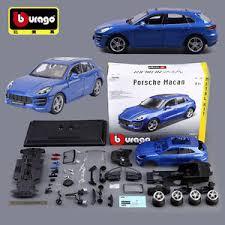 Diy Car Decor Bburago Diy Porsche Macan Diecast Model Metal Kit Assembly Vehicle