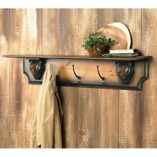 rustic antler wall shelfcoat rack reclaimed furniture design ideas