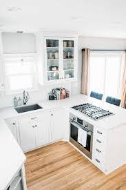 hard maple wood driftwood raised door small kitchen white cabinets