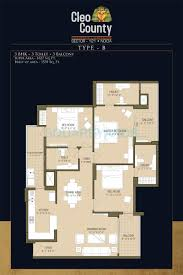 3 bhk 1827 sq ft apartment for sale in aba cleo county at rs 3 bhk 1827 sq ft apartment floor plan