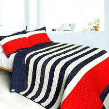 Bedspreads Quilts And Coverlets Modern Striped Black Orange Teen Boy Bedding Full Queen Quilt Set