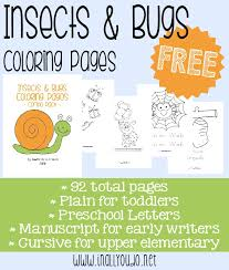 preschool coloring pages bugs free insect and bugs coloring pages the multi taskin mom