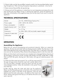 gastroback design espresso pro technical specifications operation gastroback 42606 design