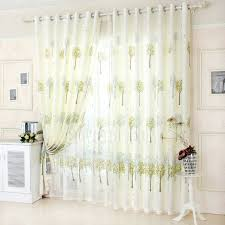 custom made bud green tree pattern room darkening country style