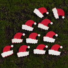 felt santa hats pack of 30 die cut christmas craft embellishments