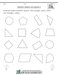 free printable geometry worksheets identify simple 2d shapes 2 gif