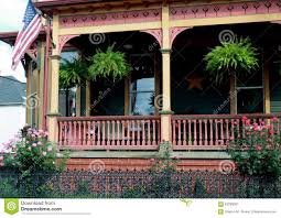 victorian style porch design stock photo image 63296001