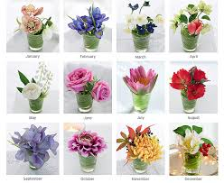 flowers of the month flower of the month bloom artificial flowers
