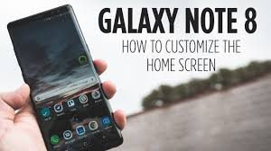 customize home galaxy note 8 how to customize the home screen youtube
