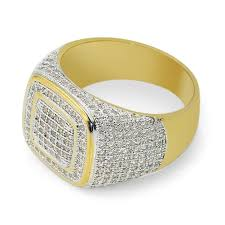 gold ring for men 1 pc diamond gold plated ring gold ring diamond ring men ring hip