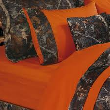 Orange Camo Bed Set Oak Camo Camouflage Rustic Comforter Bed Set