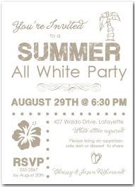 party invitation white party