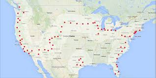 Tesla Supercharger Map Tesla Model S Owners Can Now Drive Across The Country For Free