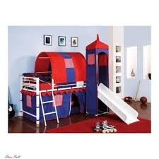 castle tent for girls bed princess loft kids with stairs slide