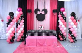 minnie mouse 1st birthday party ideas minnie mouse polka dots birthday party ideas photo 1 of 32
