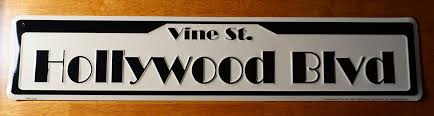 Hollywood Home Decor Hollywood Blvd Vine Street Road Sign Movie Celebrity Home Theater
