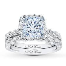 neil bridal set neil bridal setting 1 2 ct tw diamonds 14k white gold jared