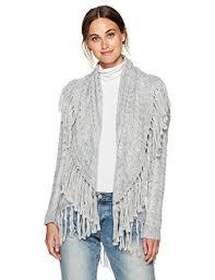 bb dakota bb dakota women s karli fringe detailed sweater cardigan at
